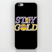 lakers iPhone & iPod Skins featuring Stay Gold by Ant Atomic