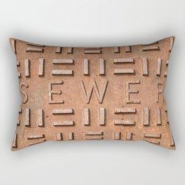 Sewer Grate Close-up Rectangular Pillow