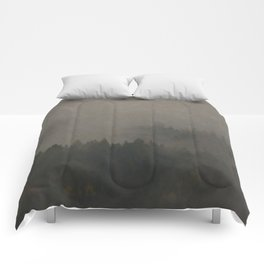 Autumn Moods Aged Photo Print Comforters