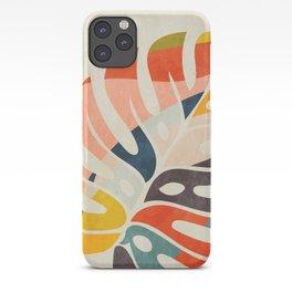 shape leave modern mid century iPhone Case