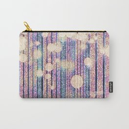 Glitter Pink Grunge Splatter Carry-All Pouch