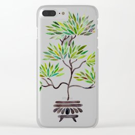 Bonsai Tree – Green Leaves Clear iPhone Case