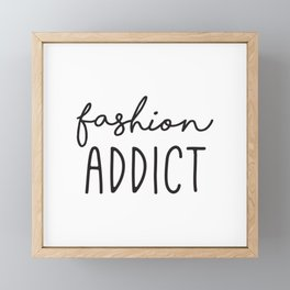Teen Girls, Room Decor, Wall Art Prints, Fashion Addict, Affordable Prints, Fashion Quotes Framed Mini Art Print