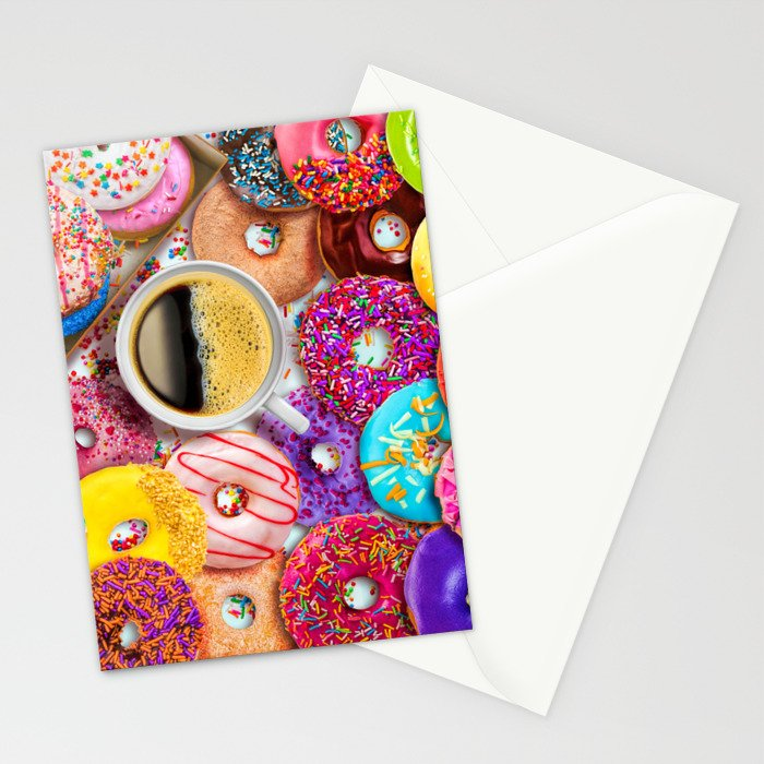 Donuts & Coffee Stationery Cards