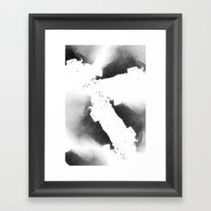 Watercolor marble, black and white Framed Art Print