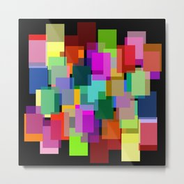 color blocks on black Metal Print