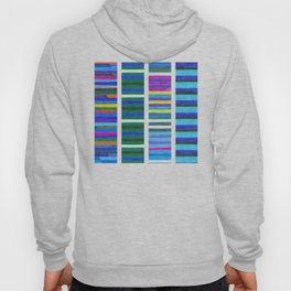 Blue Tinted Stripes Hoody