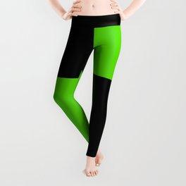 Big mosaic green black Leggings