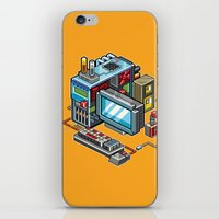 computer iPhone & iPod Skins featuring 8bit computer by Sergey Kostik