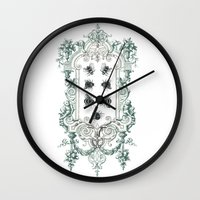 bees Wall Clocks featuring Bees by Heidi Ball