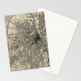 Vintage Map of Nashville Tennessee (1929) Stationery Cards