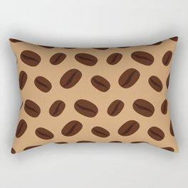 Cool Brown Coffee beans pattern Rectangular Pillow