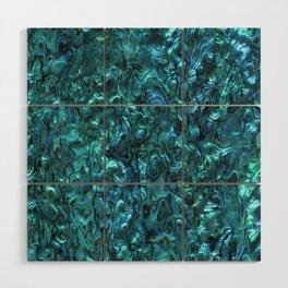 Abalone Shell | Paua Shell | Cyan Blue Tint Wood Wall Art
