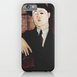 Paul Guillaume by Amedeo Modigliani iPhone Case