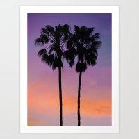 Purple Palms Art Print
