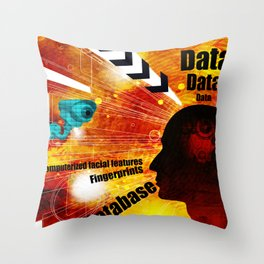 Biometric database invasion of privacy Throw Pillow
