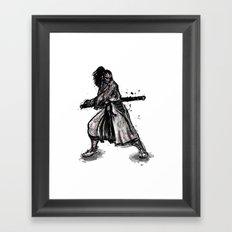Bloody Samurai Framed Art Print