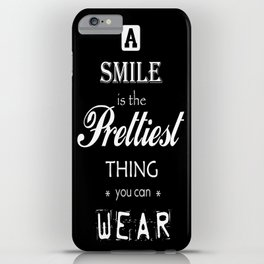 a smile iPhone Case