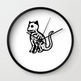 Funny Cat Skeleton Xray Spooky Halloween Costume Gift Wall Clock