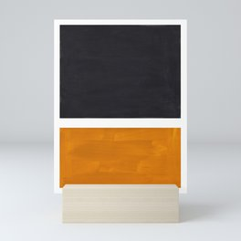 Black Yellow Ochre Rothko Minimalist Mid Century Abstract Color Field Squares Mini Art Print