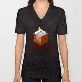 The Genius Garnet Design Painting Unisex V-Neck