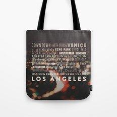 Los Angeles. LA Neighborhoods print  Tote Bag