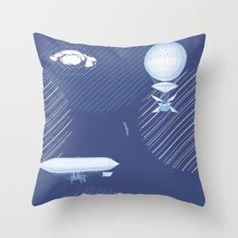 Airships Throw Pillow