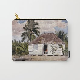 Winslow Homer Native Huts, Nassau Carry-All Pouch