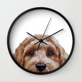 Labradoodle Brown Original  Wall Clock