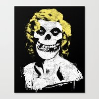 misfits Canvas Prints featuring Misfits Monroe by AtomicChild