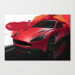 Aston Martin Vanquish S Digital Painting | Automotive | Car Canvas Print