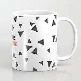 Simple black triangles coffee please modern typography Coffee Mug