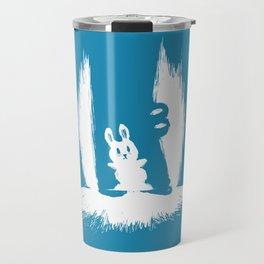cornered! (bunny and crocodile) Travel Mug