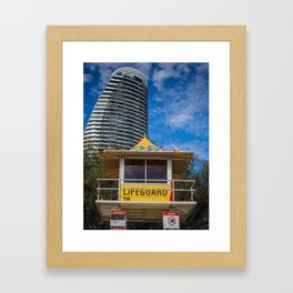 Lifeguard Hut Framed Art Print