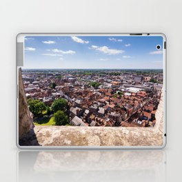 View of York from York Minster Cathedral tower Laptop & iPad Skin