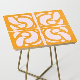 Abstract in Yellow and Cream Side Table