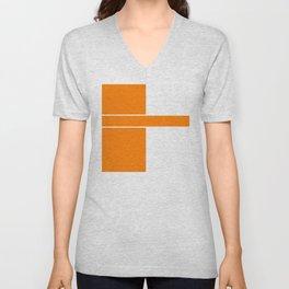 Team Color 6...orange,white Unisex V-Neck