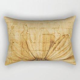 Egypt pattern flower yellow Rectangular Pillow