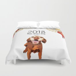 Year of the Dog - Vizsla Duvet Cover