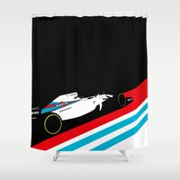 f1 Shower Curtains featuring Fw36  by Cale Funderburk