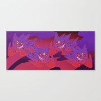 gengar Canvas Prints featuring Mega Gengar by Vaahlkult