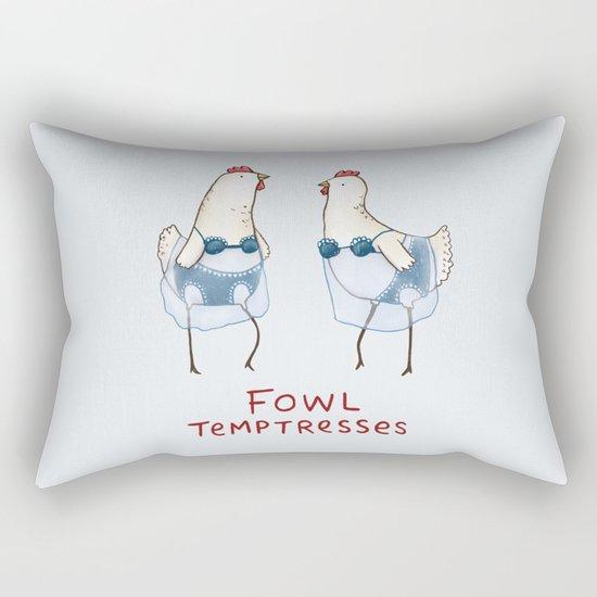 Fowl Temptresses Rectangular Pillow