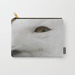 Snowy owl head Carry-All Pouch