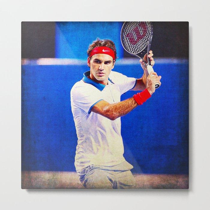 Federer Tennis Metal Print