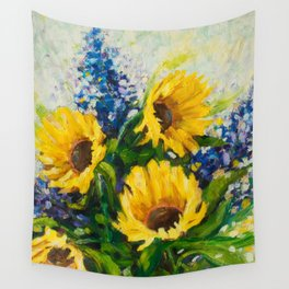 Sunflowers Oil Painting Wall Tapestry