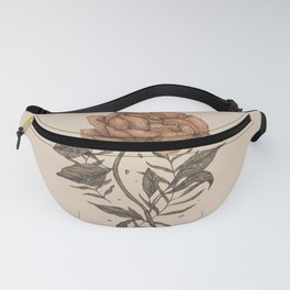 Peony and Ferns Fanny Pack