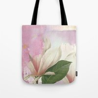 magnolia Tote Bags featuring magnolia by clemm