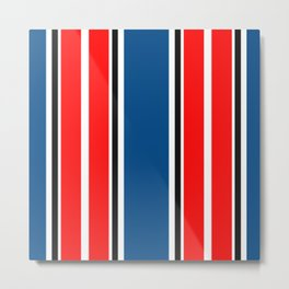 blue red Metal Print