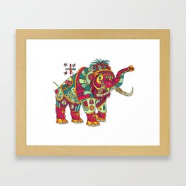 Mammoth, cool wall art for kids and adults alike Framed Art Print