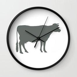 Cow: Dark Grey Wall Clock